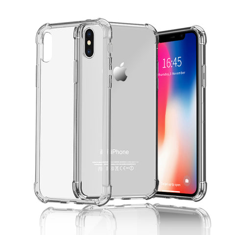 Transparent Back Covers Case For iPhone XS Max XR  For iPhone X 7 8 Plus 5 5S SE 6 6S Transparent Back Covers Capinhas - Smart Shopping Shop