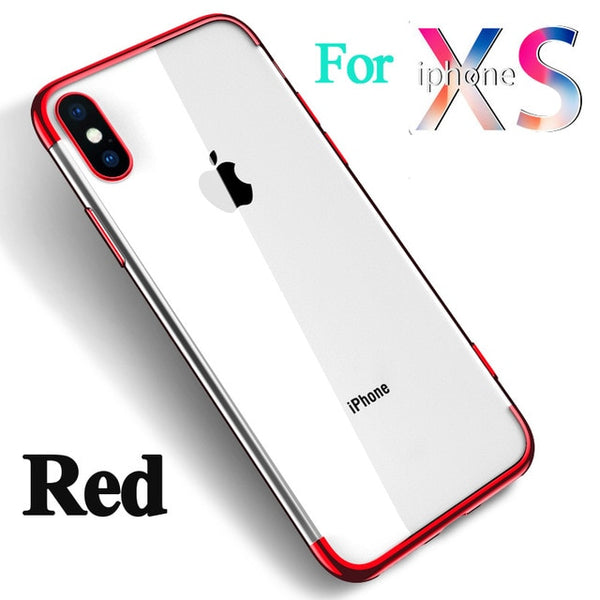 Transparent Backing Soft TPU Case For Apple iPhone XS/ XS Max - Smart Shopping Shop