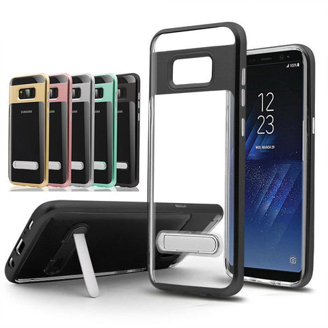 Hybrid Case Transparent TPU + Colorful PC frame for Samsung Galaxy Series