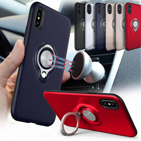 Car Holder Stand Magnetic Suction Bracket Finger Ring Cover For Apple iPhone Series - Smart Shopping Shop
