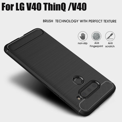 Case Shockproof Carbon For LG V40 ThinQ, For LG V40 - Smart Shopping Shop
