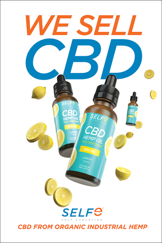 We sell cbd poster