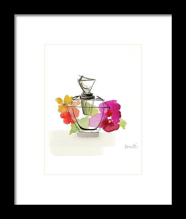 Crystal Watercolor Perfume II Framed Print by Lanie Loreth