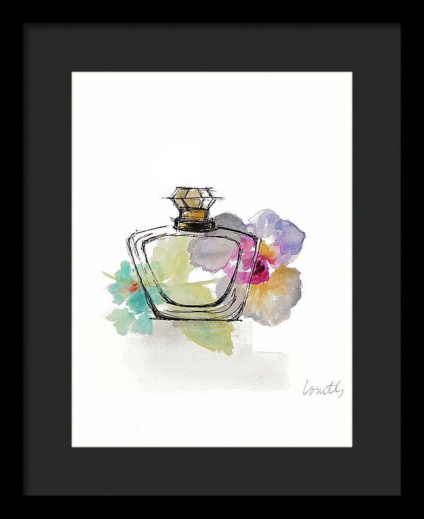Crystal Watercolor Perfume I Framed Print by Lanie Loreth