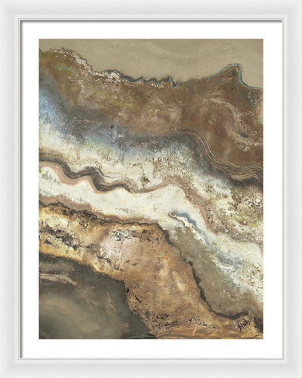 Lava Flow Panel I Framed Print by Patricia Pinto