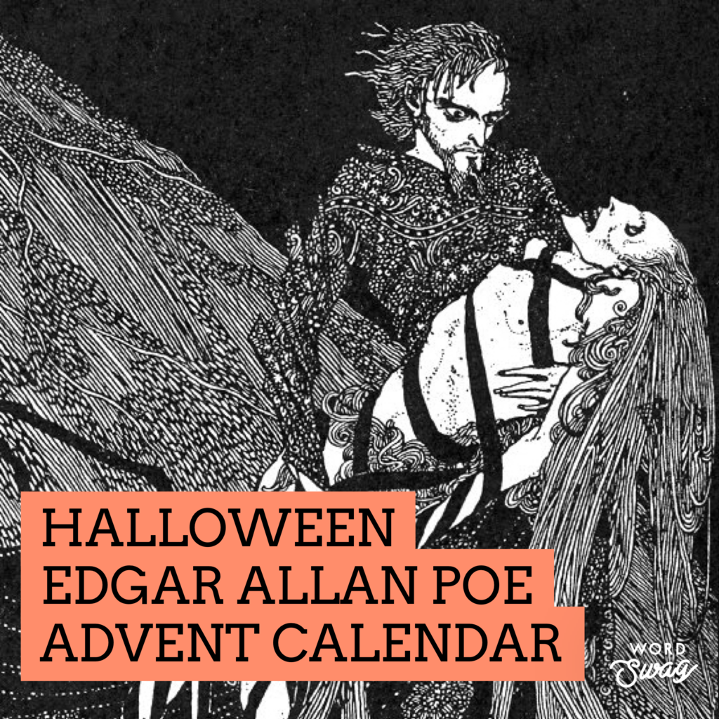 Halloween Edgar Allan Poe Advent Calendar!!!