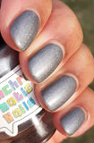 The Oncoming Storm Nail Polish - matte metallic pewter - Fanchromatic Nails