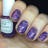 Bright and Bubbly Nail Polish - holographic purple glitter - Fanchromatic Nails