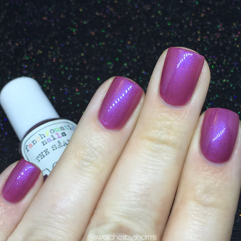 The Séance Nail Polish - mauve pink/purple jelly - Fanchromatic Nails