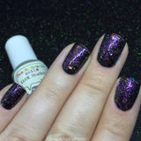 Luck Dragon Nail Polish - iridescent glitter top coat - Fanchromatic Nails
