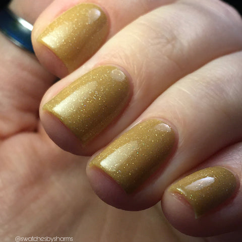 Brainy's the New Sexy Nail Polish - nude jelly with holographic microglitter - Fanchromatic Nails