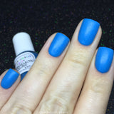 Intergalactic Warlord Nail Polish - matte glow in the dark neon blue - Fanchromatic Nails