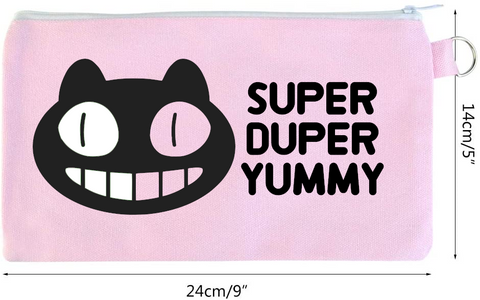 Cookie Cat - customized zippered cosmetics bag - Fanchromatic Nails