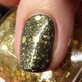 Fistful of Latinum Nail Polish - holographic gold top coat - Fanchromatic Nails