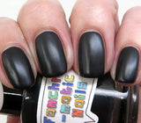 I Am the Bat Nail Polish - matte leather finish black - Fanchromatic Nails