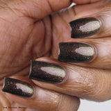 Most Imperial Majesty Nail Polish - holo chameleon gold/copper/rust shift - Fanchromatic Nails