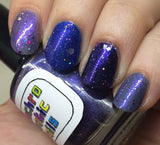 LIMITED EDITION! Celestial Temple Nail Polish - purple shimmer jelly with holographic glitter - Fanchromatic Nails