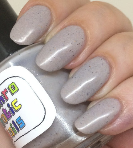 Mudder's Milk Nail Polish - pale oatmeal with metallic flecks
