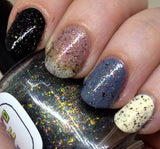 Pelvic Sorcery Nail Polish - color shifting metallic flakies - Fanchromatic Nails