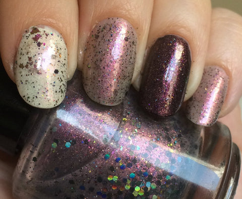 Reverse the Polarity Nail Polish - color shifting cosmic blend - fanchromaticnails