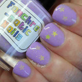 LSP Nail Polish -  bright lavender with gold stars - Fanchromatic Nails
