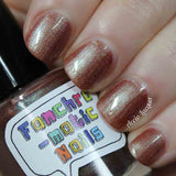 The Upside Down Nail Polish - color shifting tawny bronze - Fanchromatic Nails