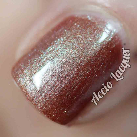 The Upside Down Nail Polish - color shifting tawny bronze - fanchromaticnails