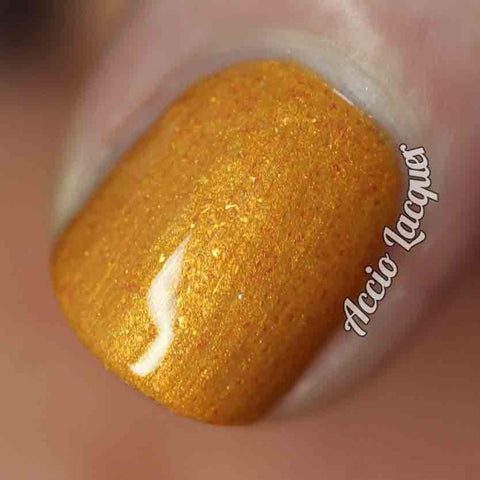 Lasso of Truth Nail Polish - goldenrod yellow shimmer - fanchromaticnails