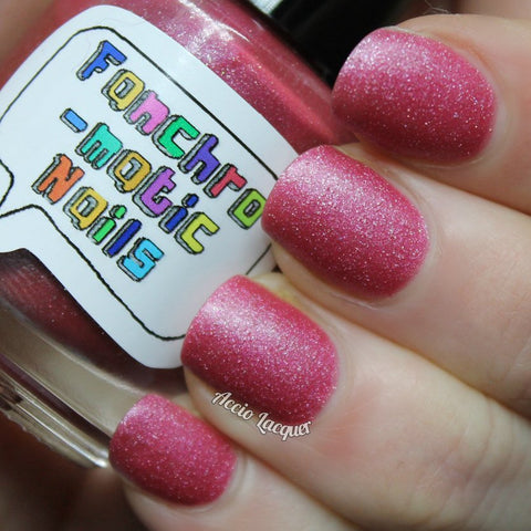 Sure As Sugar Nail Polish - pink matte shimmer - fanchromaticnails