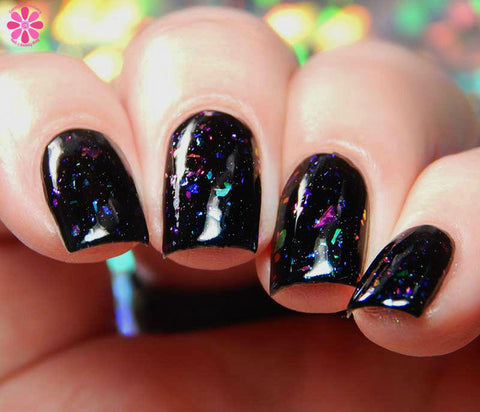 I Am In A Dream Nail Polish - color-shifting flakie holo top coat - Fanchromatic Nails