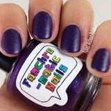 Bow Ties Are Cool Nail Polish - matte metallic purple with metallic flakies - fanchromaticnails