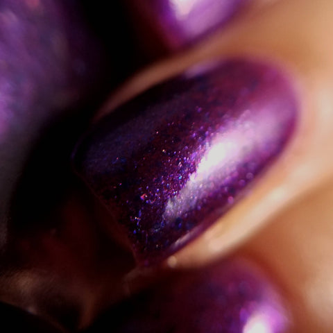 The Many Faces of Me Nail Polish - duochrome purple/fuchsia jelly polish - Fanchromatic Nails