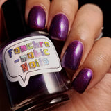Clearance: The Many Faces of Me Nail Polish - duochrome purple/fuchsia jelly polish - Fanchromatic Nails