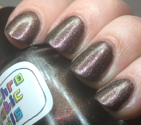 Righteous Dude Nail Polish - chameleon metallic purple-brown - Fanchromatic Nails
