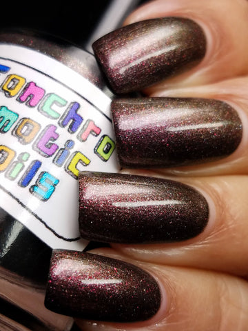 Clearance: Righteous Dude Nail Polish - chameleon metallic purple-brown - Fanchromatic Nails