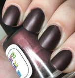 Not A Lady Nail Polish - matte/leather finish deep rusty red - Fanchromatic Nails