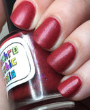Sausage King of Chicago Nail Polish - satin-finish bright rose pink with flakies - fanchromaticnails