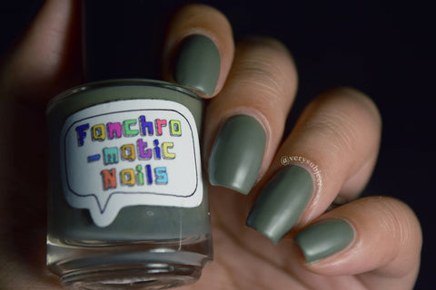 A Shortcut to Mushrooms Nail Polish - matte earthy grey - Fanchromatic Nails