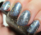 Clearance: Broken Holo Theory Nail Polish - shredded holographic silver top coat - Fanchromatic Nails