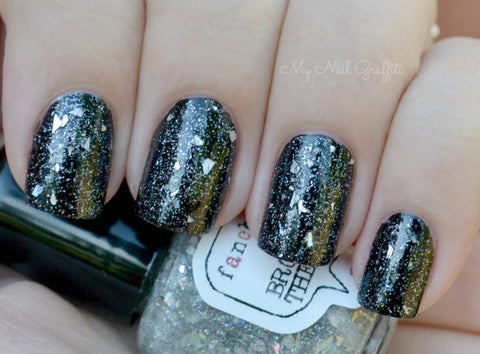 LIMITED EDITION! Broken Holo Theory Nail Polish - shredded holographic silver top coat - Fanchromatic Nails