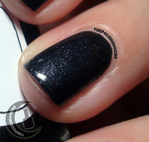 Into the Black Nail Polish - very special shimmery black - Fanchromatic Nails