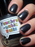 Into the Black Nail Polish - very special shimmery black - fanchromaticnails