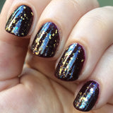Scum and Villainy Nail Polish - burgundy jelly with subtle purple and pink shimmer - Fanchromatic Nails