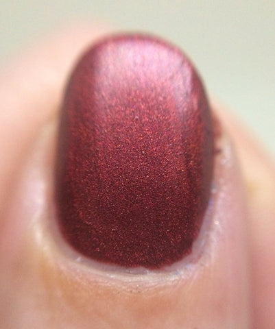 Devil Got My Woman Nail Polish - matte deep red - fanchromaticnails