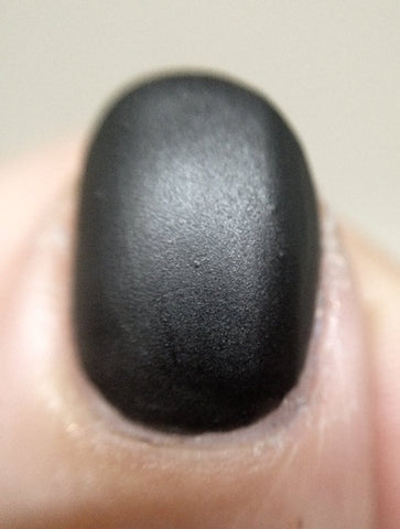 I Am the Bat Nail Polish - matte leather finish black - fanchromaticnails
