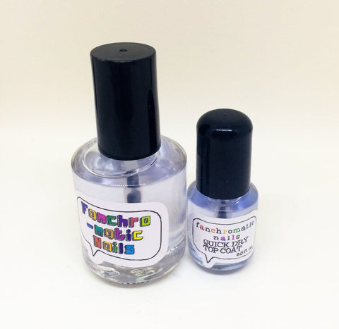 Quick Dry Top Coat Nail Polish - for a speedy manicure - Fanchromatic Nails