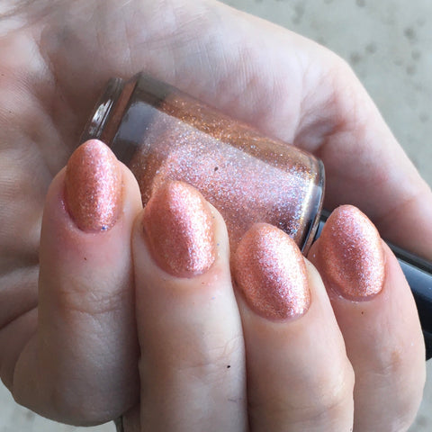 This High My Fire Nail Polish - matte color-shifting peach tones - Fanchromatic Nails