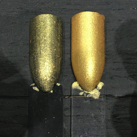 ...And Gold Their Shrouds Nail Polish - matte metallic gold - Fanchromatic Nails