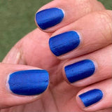 Time & Relative Dimension In Space Nail Polish - incredible matte blue! - Fanchromatic Nails