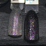 Clearance: No Such Thing As Overdressed Nail Polish - holographic topper with color-shifting metallic flakes - Fanchromatic Nails